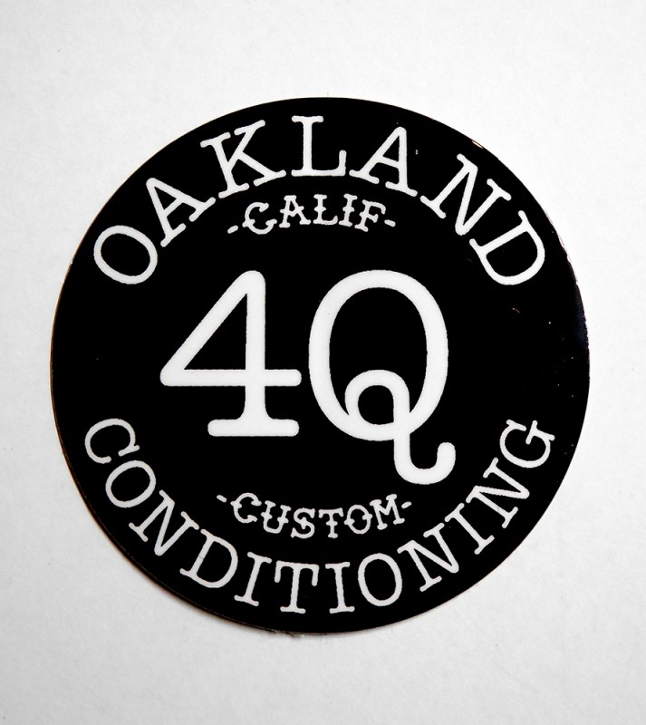 "4Q CONDITIONING ""TRADE MARK"" STICKER"