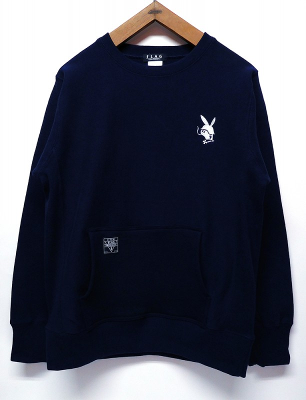 "FLAG STORE ""RABBIT"" 12oz HEAVY WEIGHT CREW SWEAT"