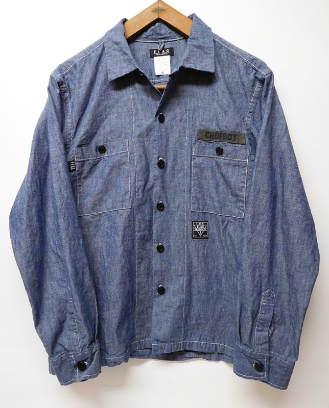 "FLAG STORE ""BOX CHAMBRAY SHIRTS"""