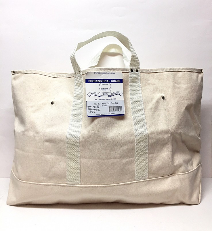 "HERITAGE LEATHER CO ""HEAVY DUTY TOTE BAG"""
