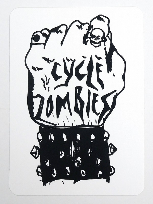 "CYCLE ZOMBIES ""KNUCKLE"" STICKER"