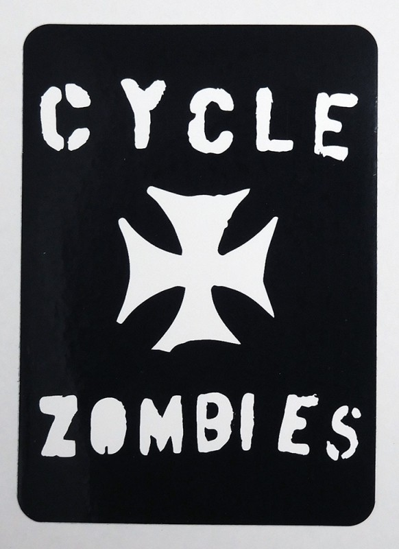 "CYCLE ZOMBIES ""IRON CROSS"" STICKER"