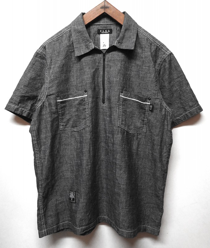 "FLAG STORE ""CHAMBRAY PULLOVER BOX WORK SHIRT"""