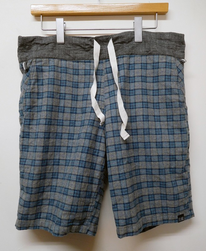 "FLAG STORE ""FLANNEL CHECK RELAX SHORTS"""
