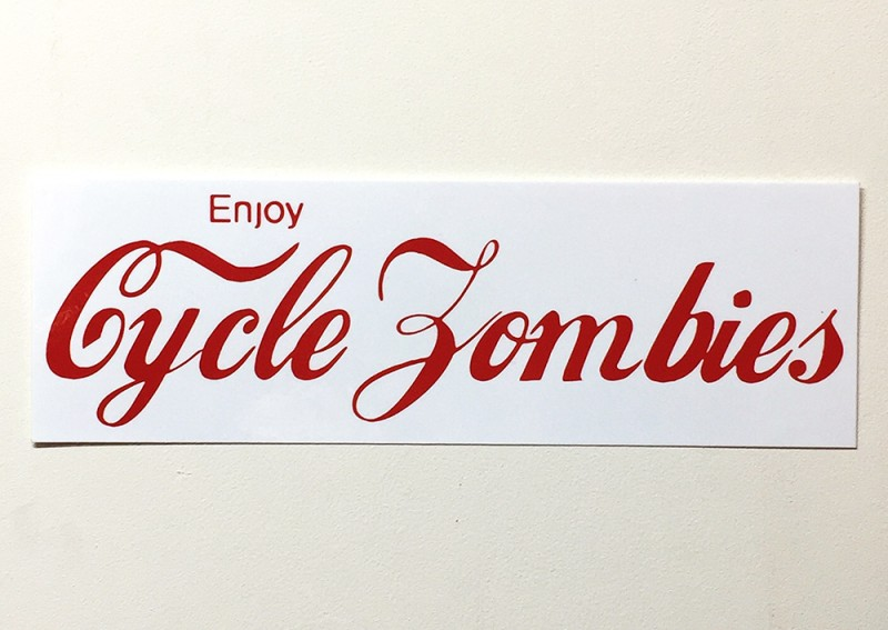 "CYCLE ZOMBIES ""ENJOY"" BUMPER STICKER"