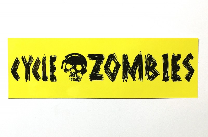 "CYCLE ZOMBIES ""ZOMBIE"" BUMPER STICKER"