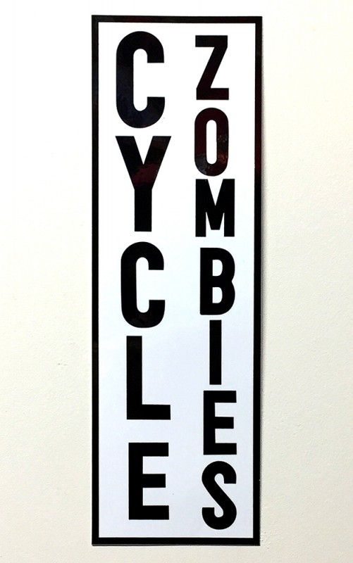 "CYCLE ZOMBIES ""ZOMBIES LOGO"" BUMPER STICKER"
