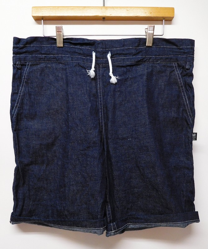 "FLAG STORE ""2017 INDIGO DENIM RELAX SHORTS"""