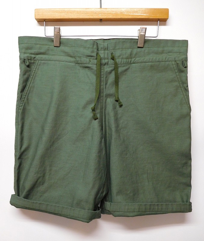 "FLAG STORE ""OLIVE DRAB RELAX SHORTS"""