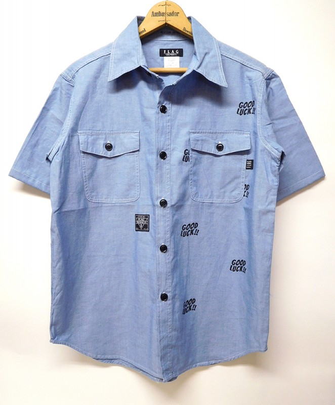 "FLAG STORE ""GOOD LUCK CHAMBRAY SHIRTS"""