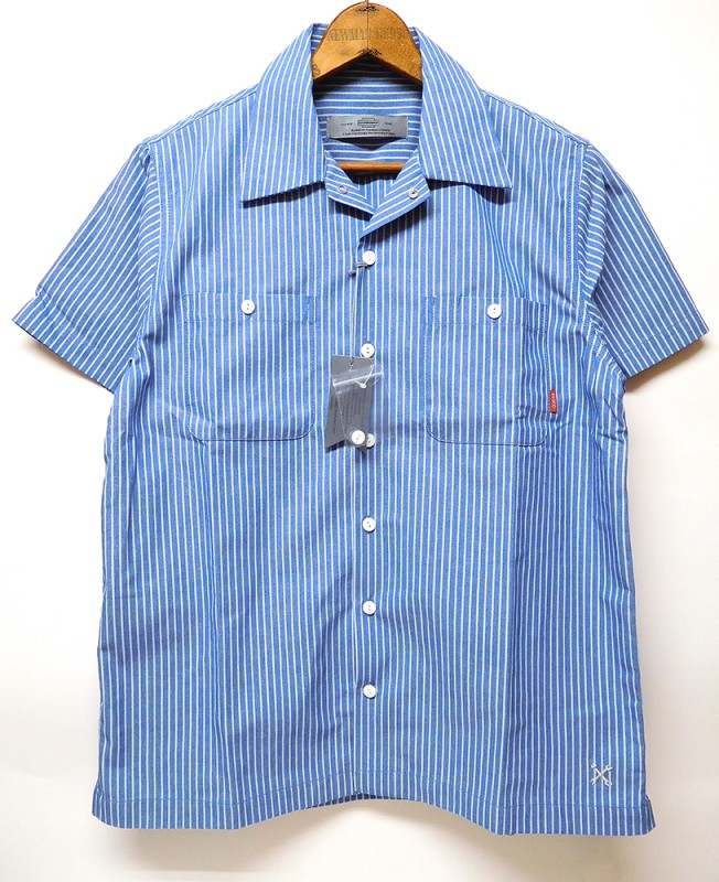 "BLUCO ""SHORT SLEEVE STRIPE WORK SHIRTS"""
