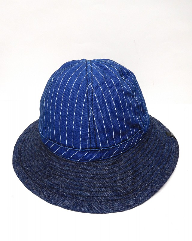 "FLAG STORE ""WABASH X DENIM INDIGO ARMY HAT"""