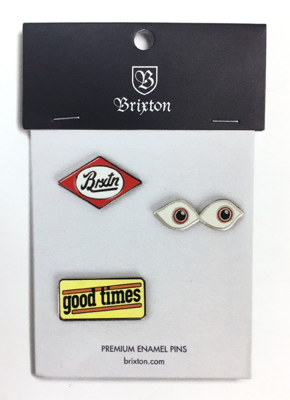 "BRIXTON ""TIMES"" PIN PACK"