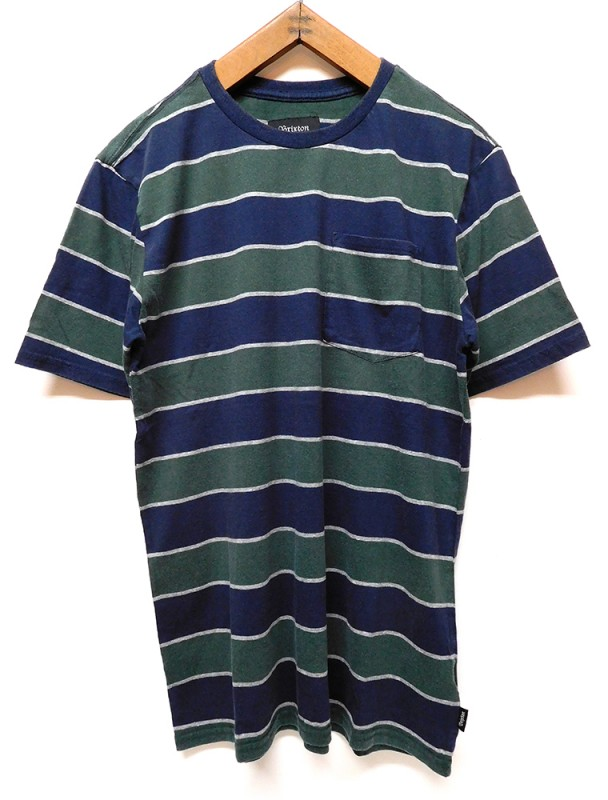 "BRIXTON ""HILT WASHED POKET STRIPE TEE"""