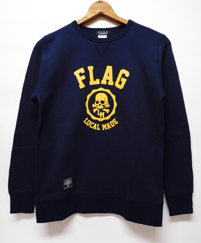 "FLAG STORE ""COLLEGE"" L/S CREW SWEAT"