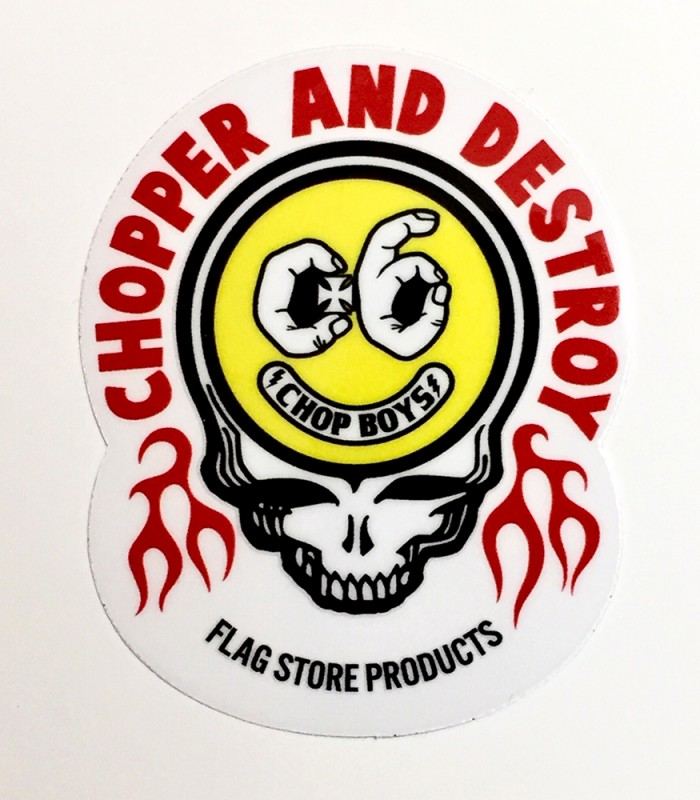 "FLAG STORE ""C.A.D SKULL STICKER"""
