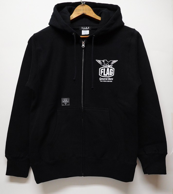 "FLAG STORE ""EAGLE"" 12oz ZIP UP HOODED"